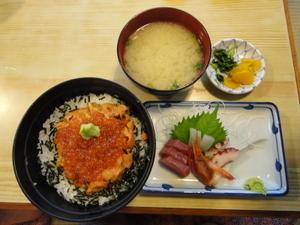 ミックス(ウニ・イクラ)丼